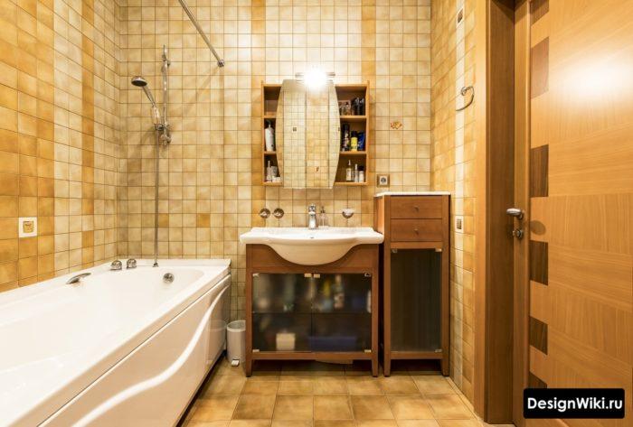 Небольшой квадратный кафель для ванной