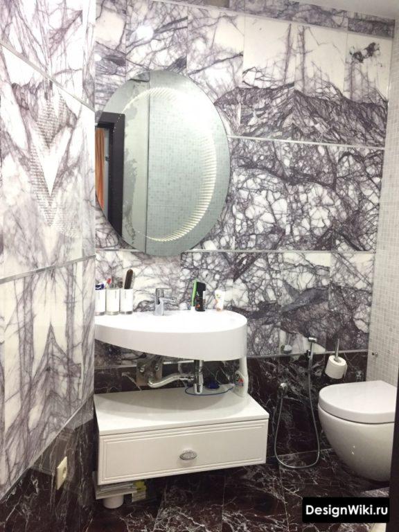 Необычный дизайн плитки для ванной