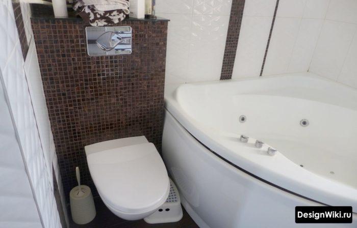 Отделка совмещенной ванной комнаты мозаикой