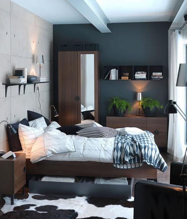 Очень маленькая спальня в стиле лофт