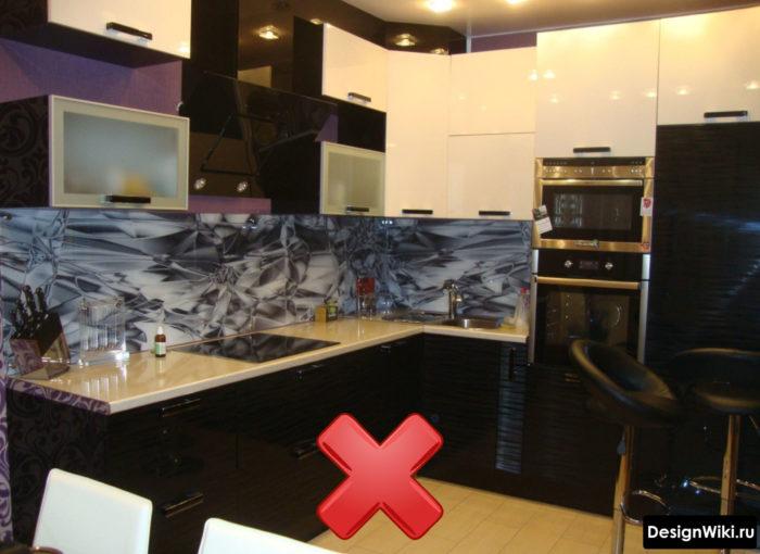 Ошибка сложности в интерьере маленькой кухни