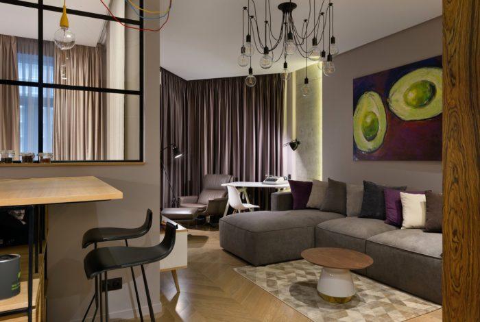 Паркет елочкой в современном дизайне квартиры