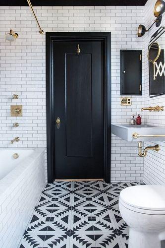 Плитка белый кабанчик в ванной