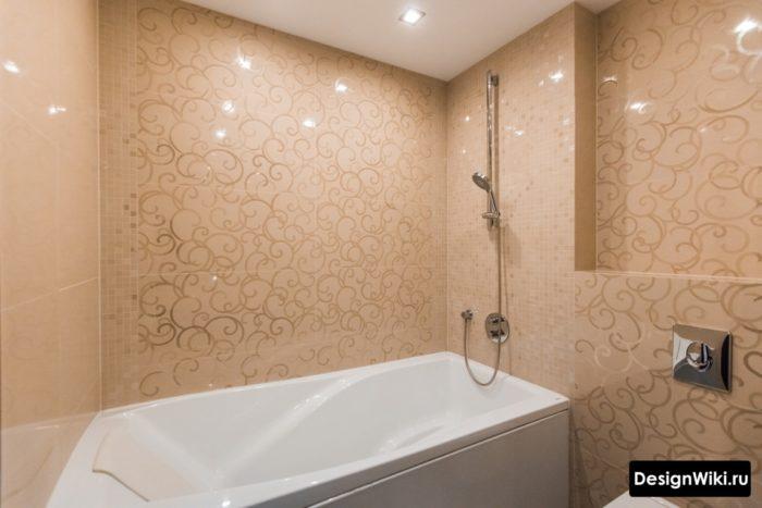 Плитка для ванной с глянцевым узором