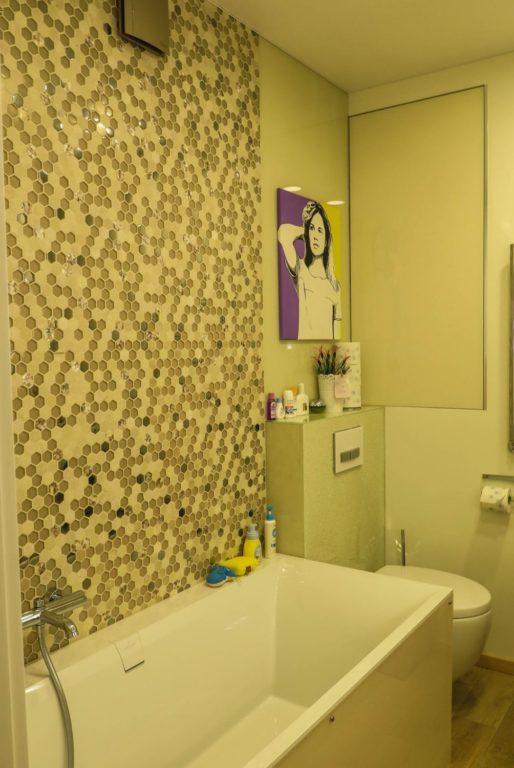 Плитка мозаика шестиугольник в ванной