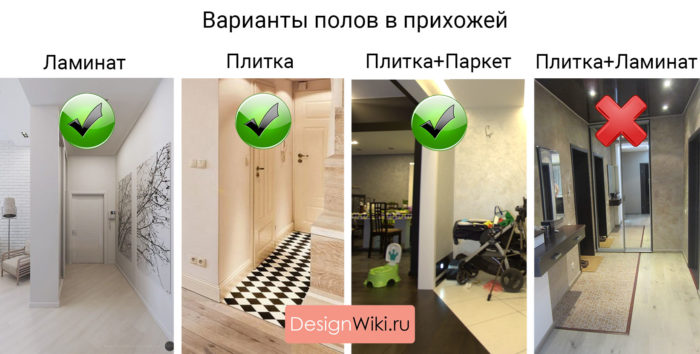 Плитка на пол в коридор или ламинат