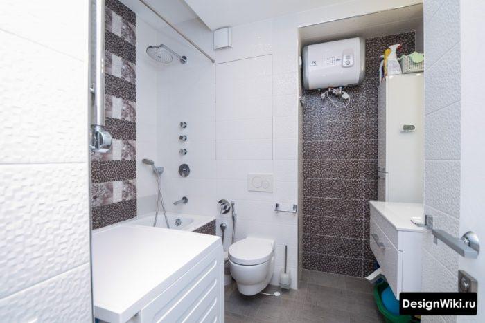Плитка пикселька в ванной дизайн