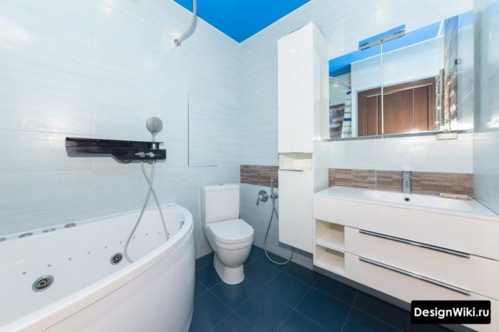 Подвесные шкафы в ванной