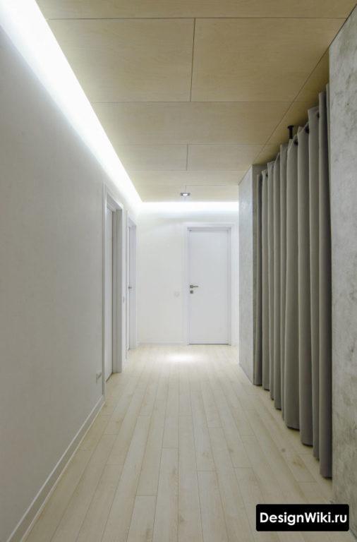 Подсветка потолка в коридоре по периметру