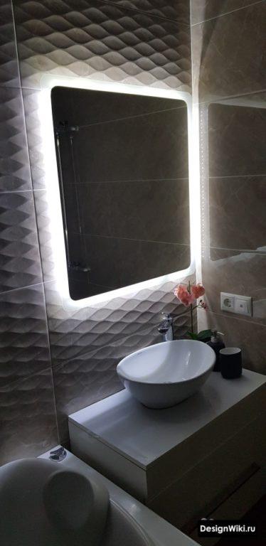 Подсветка плитки для ванной