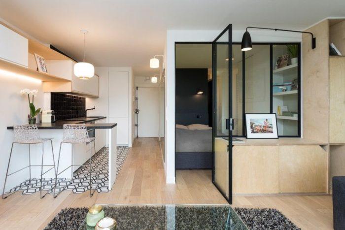 Проект планировки квартиры-студии с кроватью