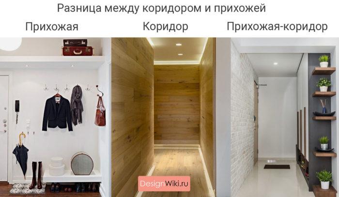 Разница между коридором и прихожей