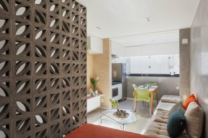 Расположение мебели в узкой вытянутой студии
