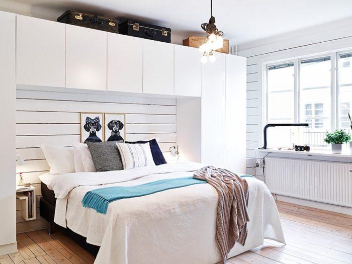 Расположение шкафа в маленькой спальне