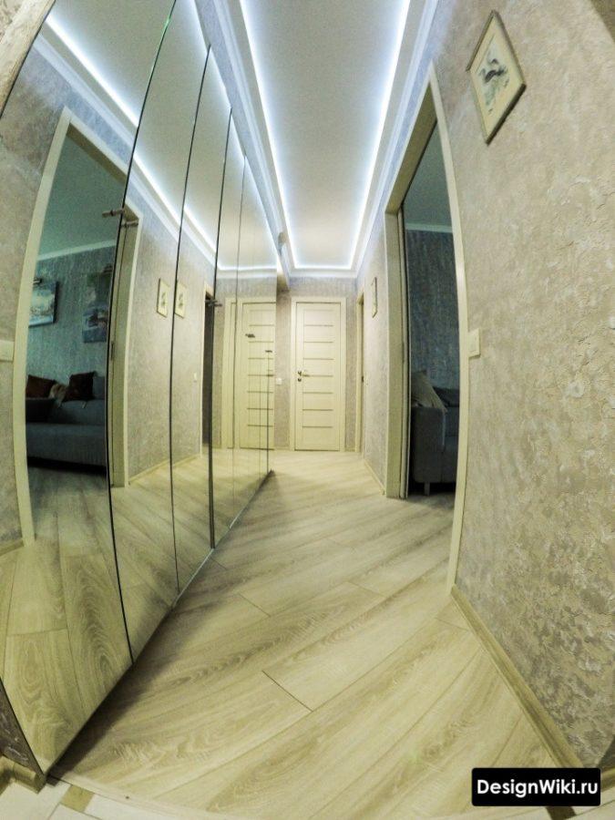Реальное фото современного дизайна коридора в квартире
