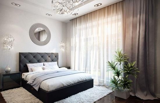 Смесь современного стиля и классики в спальне
