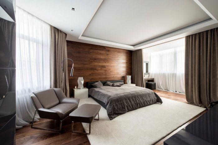 Современный дизайн большой спальни