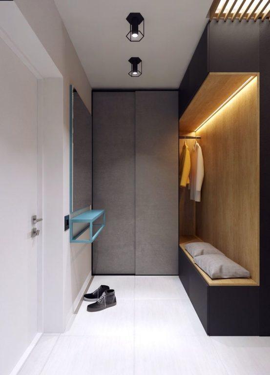 Современный дизайн потолка для прихожей