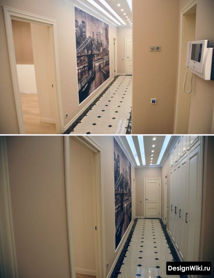 Современный ремонт коридора в классическом стиле