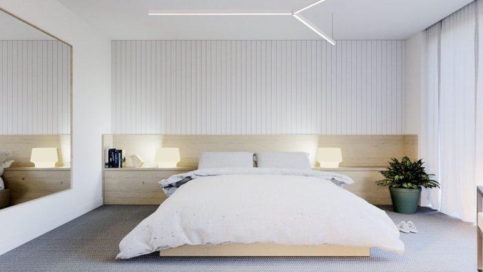 Сочетание светлого дерева и белого цвета в дизайне