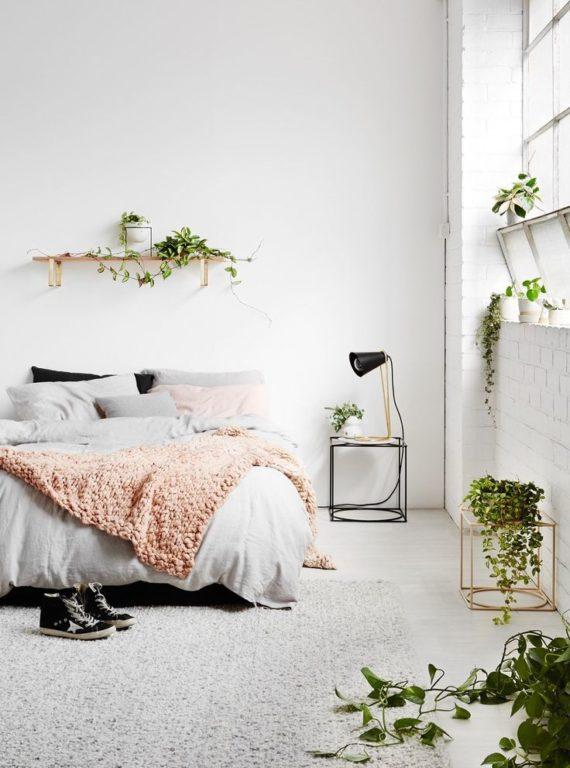 Спальня в стиле эко-минимализм