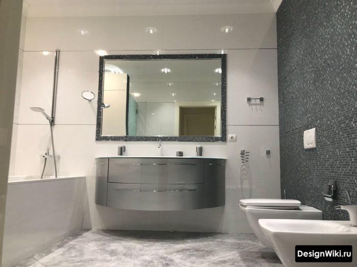Стильная ванная комната с туалетом