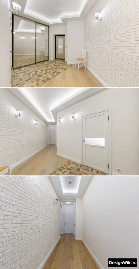 Стильный дизайн коридора в квартире в светлых тонах #интерьерквартиры