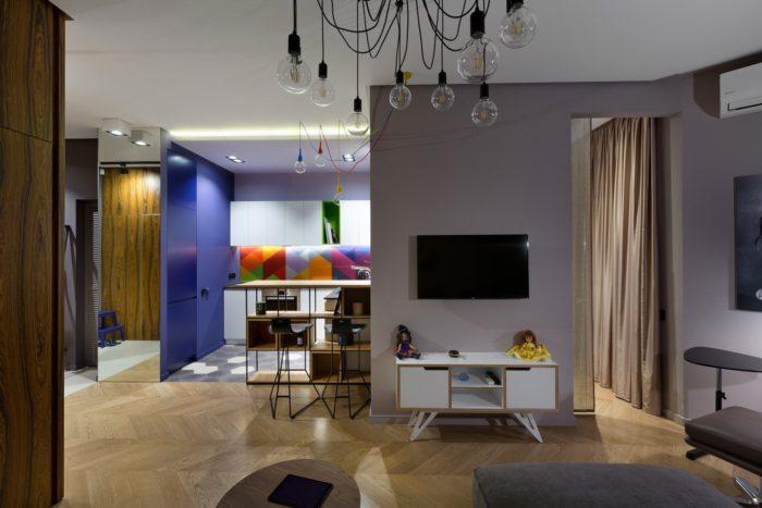 Стильный современный дизайн квартиры студии