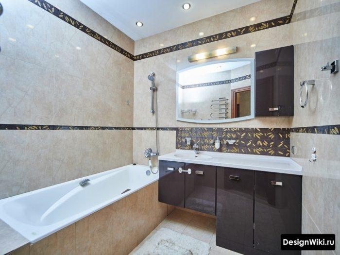 Стиль модерн для плитки в ванной