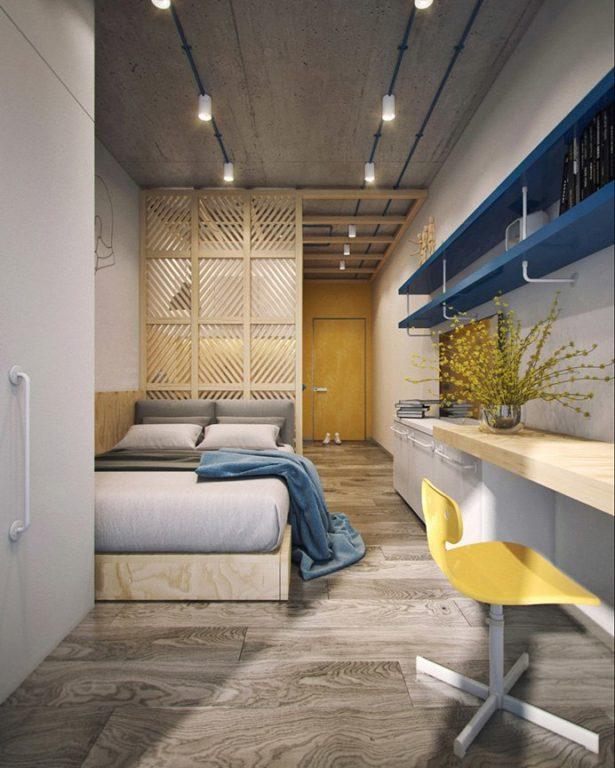 Узкая квартира-студия в стиле лофт