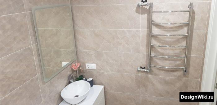 Фактурная плитка для стены ванной