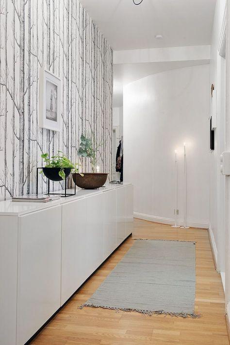 Фото обоев в дизайне коридора