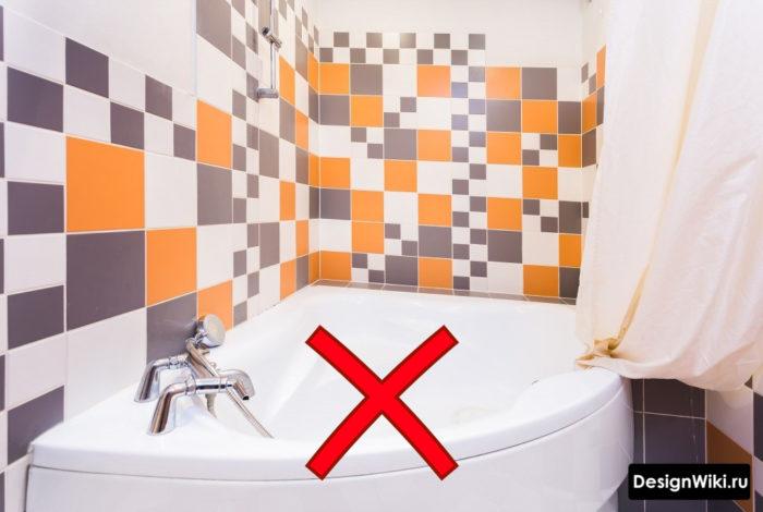 Цветная керамическая плитка для ванной комнаты