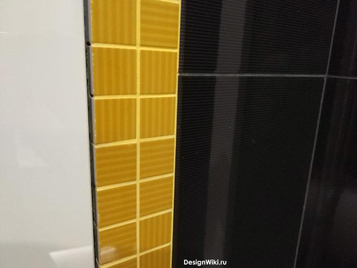 Цвет затирки для жёлтой мозаики