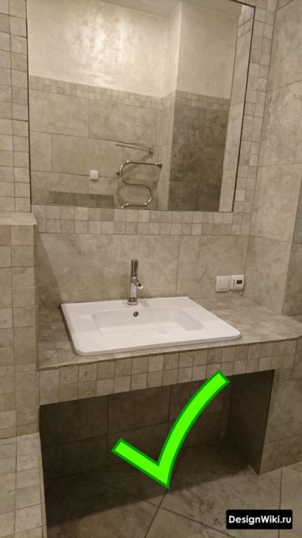 Черная затирка для серой плитки #дизайнпроект #ваннаякомната