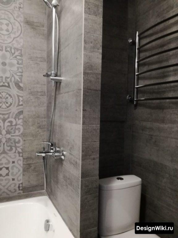 Черная плитка для стен ванной комнаты