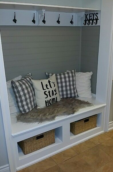 Шкаф с сидушкой и местом для обуви