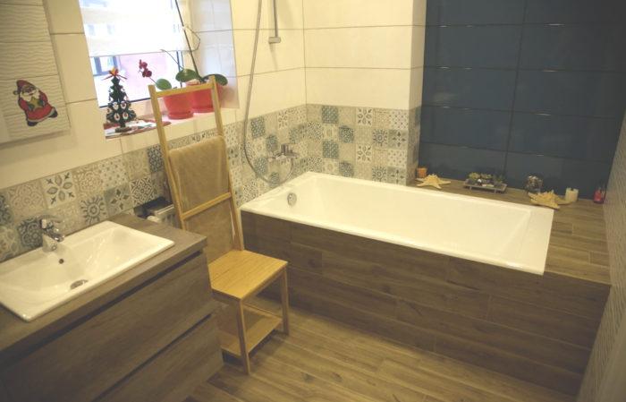 Эклектика в интерьере ванной с туалетом