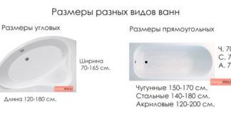 Размеры-ванн-угловых-и-прямоугольных