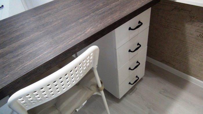 Барный стол-стойка на маленькой кухне