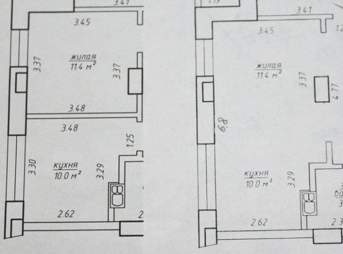 Планировка квадратной кухни 10 метров