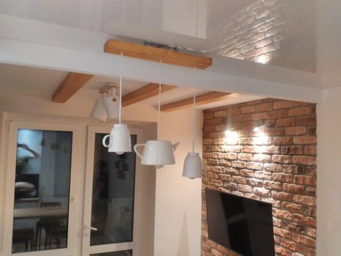 Потолок в маленькой кухне