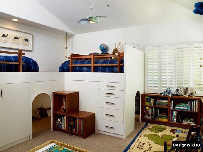 Белая современная мебель для мальчиков