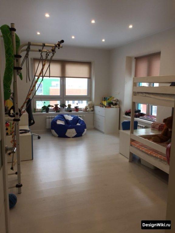 Большая детская комната для мальчиков