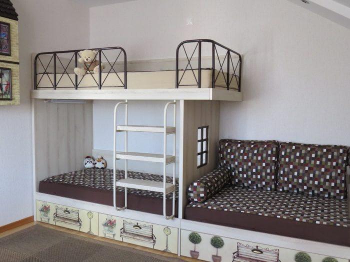 Дизайн детской комнаты для двоих в хрущевке