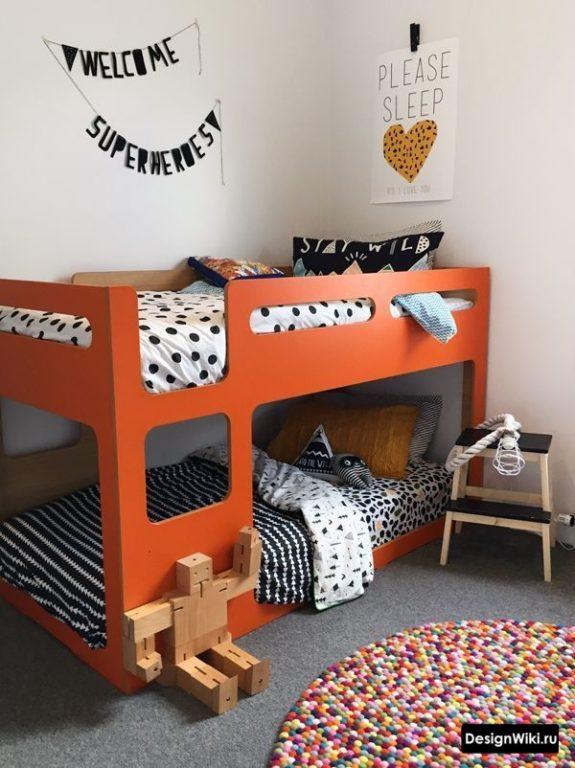 Двухъярусная кровать для мальчиков дошкольников