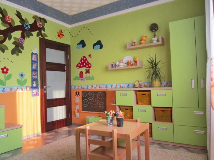 Дизайн детской для разнополых детей до 6 лет