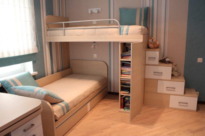 Дизайн кроватей для двух детей