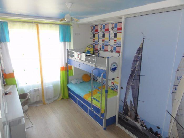 Дизайн мебели в детской комнате для двух мальчиков