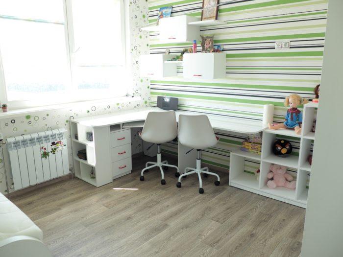 Дизайн мебели для двоих детей в детской